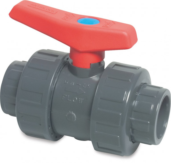 Ball valve with double union, type Mega imperial 2001