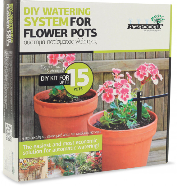 Agrodrip DIY watering system for up to 15 flower pots