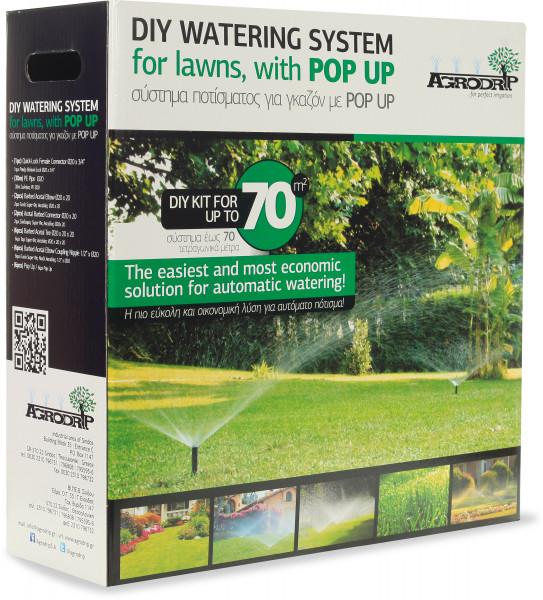 Agrodrip DIY watering system for lawns up to 70m2 with pop-up